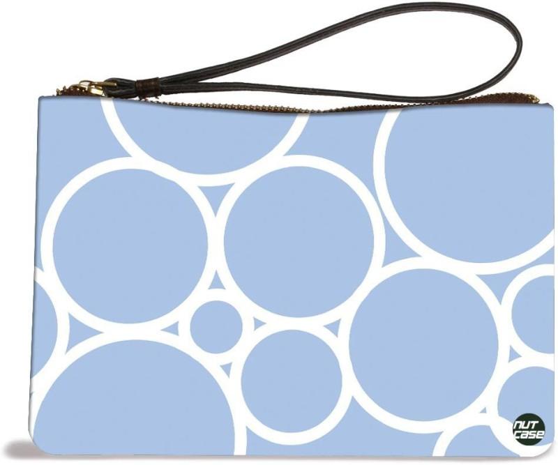 Nutcaseshop Blue Circles Pouch(Multicolor)