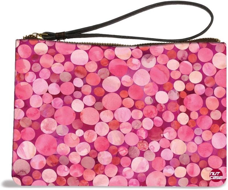 Nutcaseshop Pink Confetti Pouch(Multicolor)