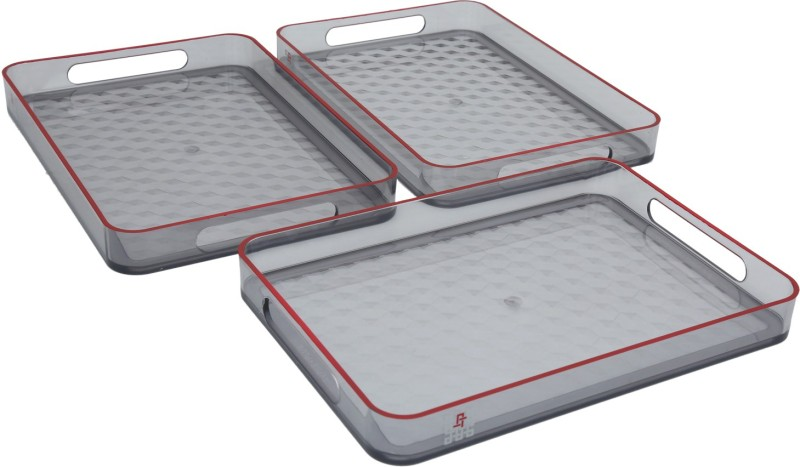 Jaypee plus Prisma Small Grey Cup Tray Serving Set(Pack of 3)