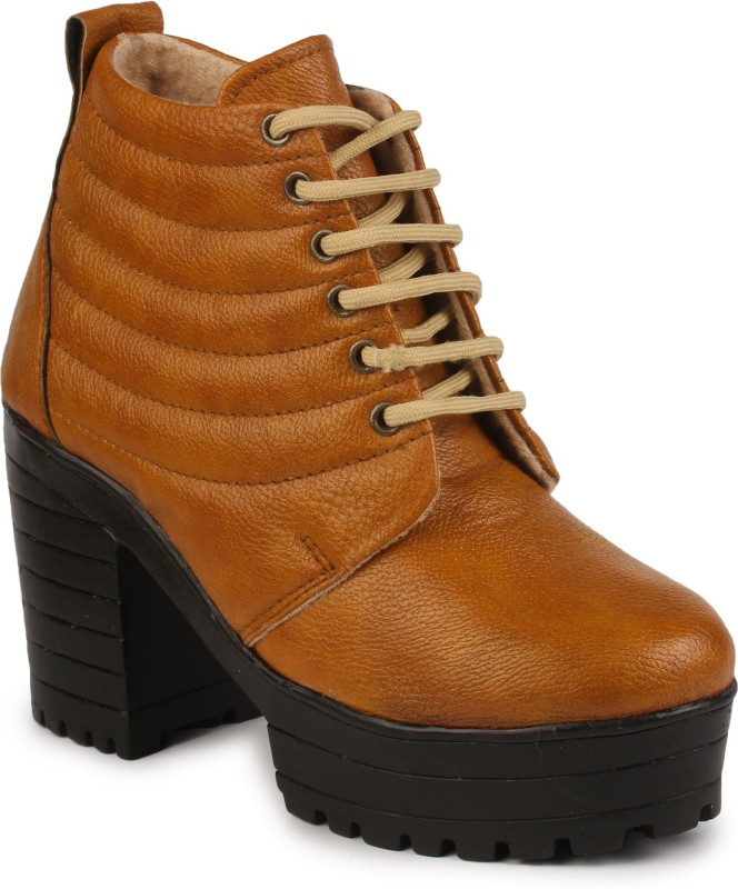 Do Bhai Boots For Women(Tan)