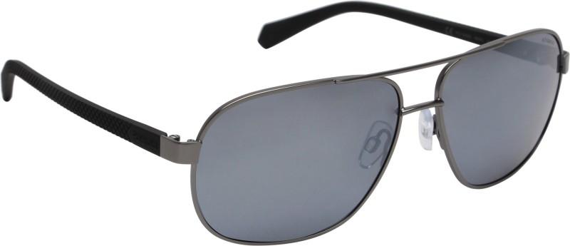 Polaroid Retro Square Sunglasses(Silver)