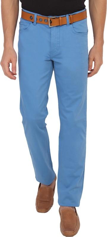 Calvin Klein Slim Fit Men Blue Trousers