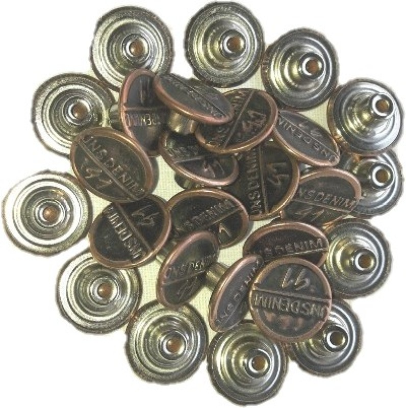 Tlo jeans Button 001 DENIM Metal Buttons(Pack of 100)