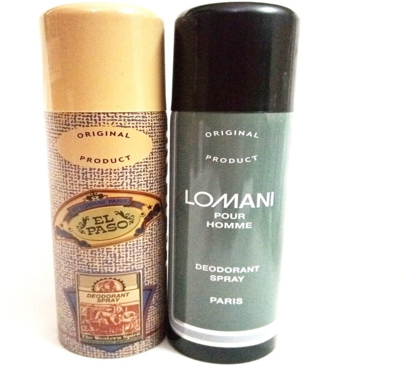Lomani EL PASO AND POUR HOMME Deodorant Spray - For Men(400 ml, Pack of 2)