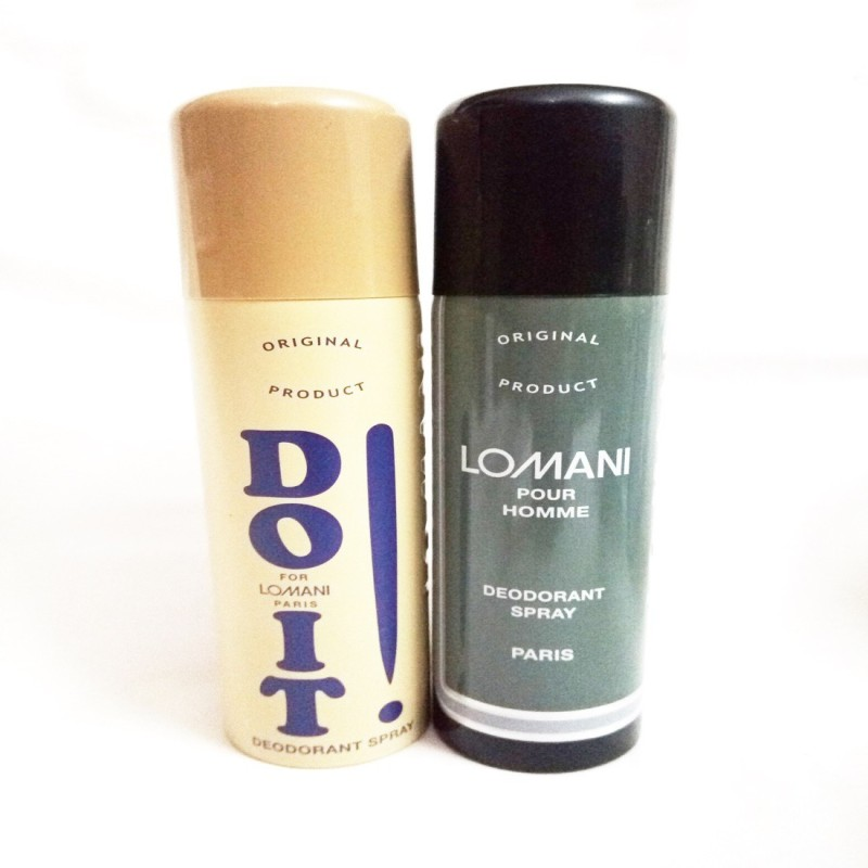 Lomani DO IT AND POUR HOMME Deodorant Spray - For Men(400 ml, Pack of 2)