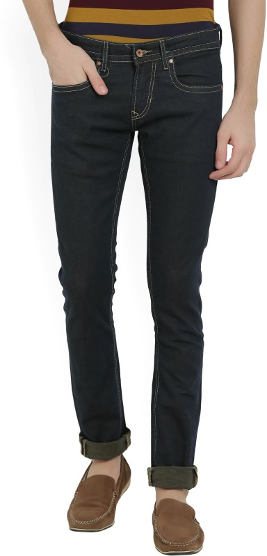 Peter England Skinny Mens Dark Blue Jeans