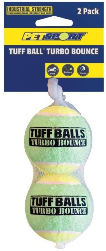 petsports Tuff Ball Turbo Bounce 2PK, 7cm Cotton Ball For Cat