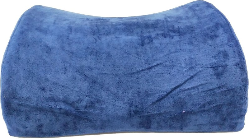 Linenwalas PLAIN Back Cushion Pack of 1(Blue)
