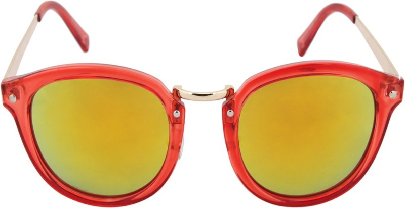 stylefiestafashion Oval Sunglasses(Golden)