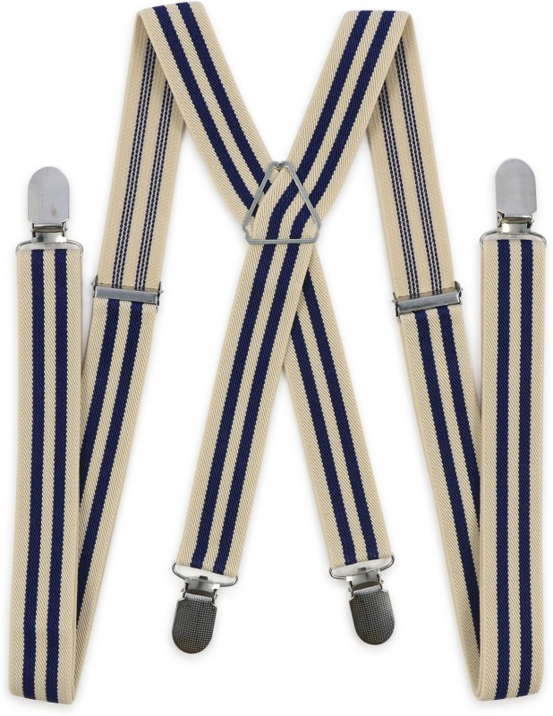 69th Avenue X- Back Suspenders for Men(Beige)