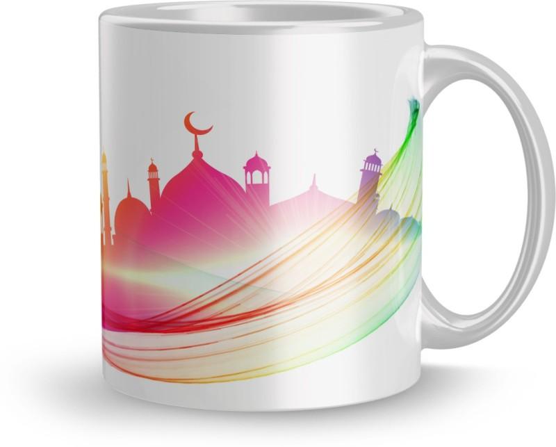 Apoorva Beautiful 320ml Ceramic Printed mug Gift For gift for Eid couple...