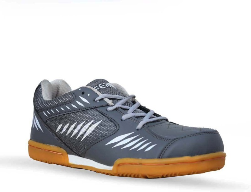 Feroc Power Badminton Shoes For Men(Grey)