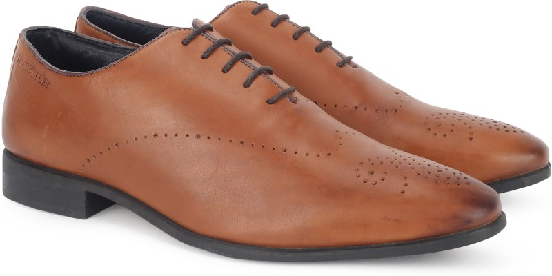 Hush Puppies By Bata FRED SINGLE PIECE Lace Up For Men(Tan)
