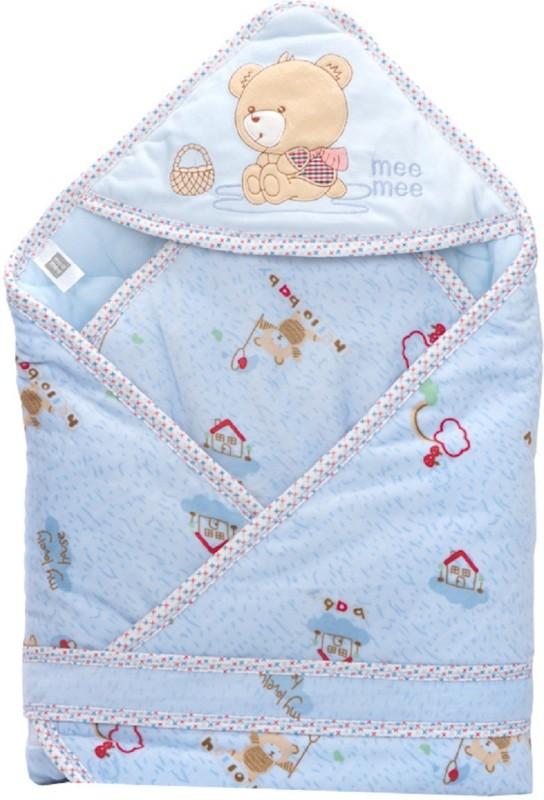 MeeMee Plain Single Blanket Blue(Pack of 1)