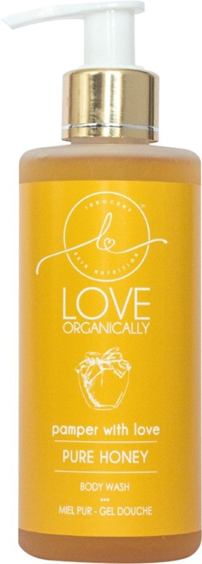 LOVE ORGANICALLY Pure Honey Body Wash Is Designed To Nourish, Pamper And Soften You And Your Child's Skin - Made With Natural & Organic Ingredients - Free From Sulphates, Mineral Oils, Parabens, GMOs & Harsh Chemicals(220 ml)