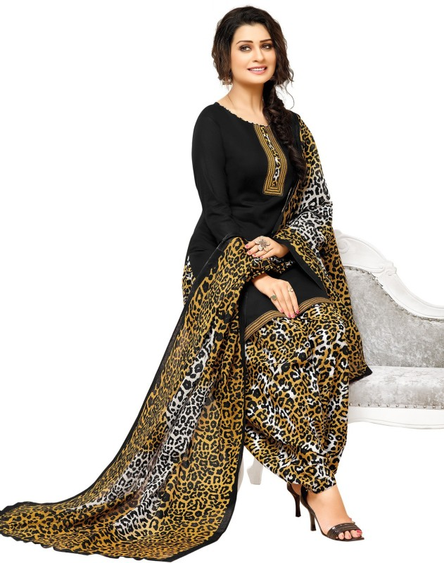 Salwar Studio Cotton Self Design, Printed Salwar Suit Dupatta Material(Un-stitched)