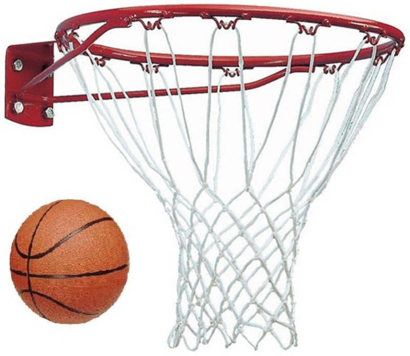 FACTO POWER With Net, And Basket Ball, Orange Color, 17 mm., Basketball Ring(7 Basketball Size With Net)