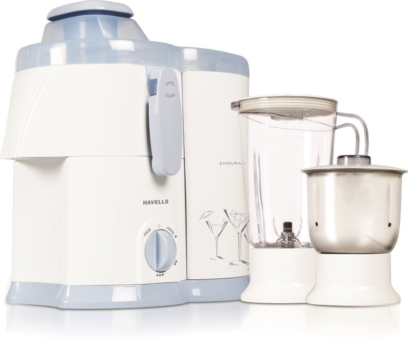 Havells Endura 2 500 Juicer Mixer Grinder(White, 2 Jars)