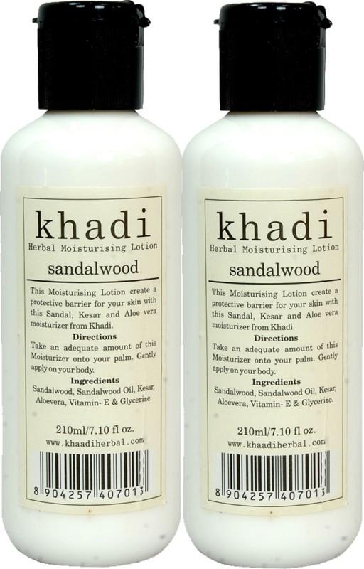 Khadi Herbal Sandalwood Moisturising Lotion 420 ml ( Pack 2 )(420 ml)