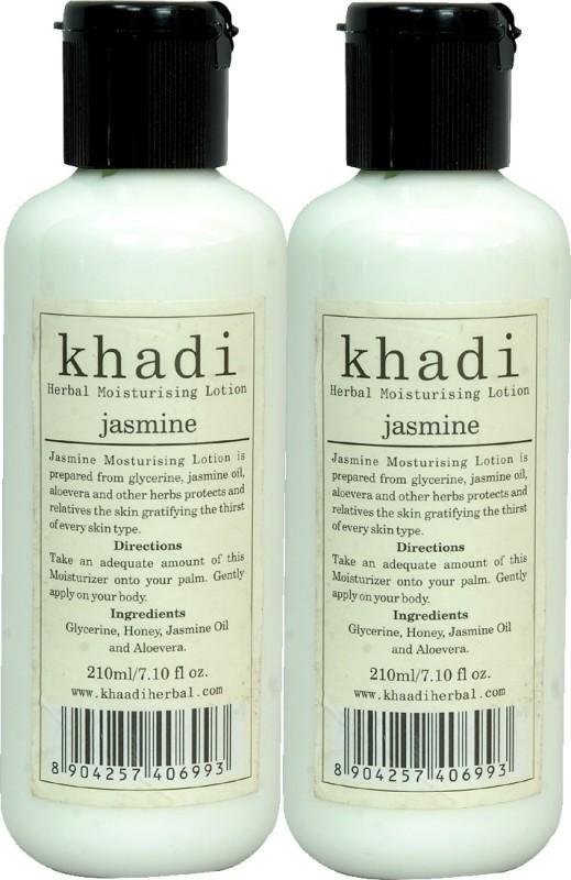 Khadi Herbal Jasmine Moisturising Lotion 420 Ml( Pack Of 2 )(420 ml)