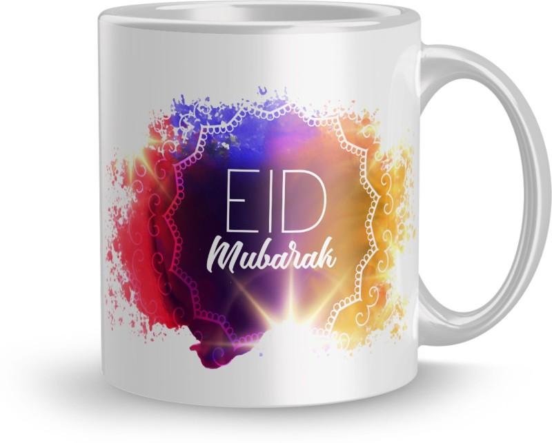 Apoorva Designer 320ml Ceramic Printed mug Gift For elder sister Eid Mubarak...