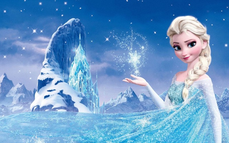 mahalaxmi Frozen Elsa on LARGE PRINT 36X24 INCHES Photographic Paper(36 inch X 24 inch, Rolled)