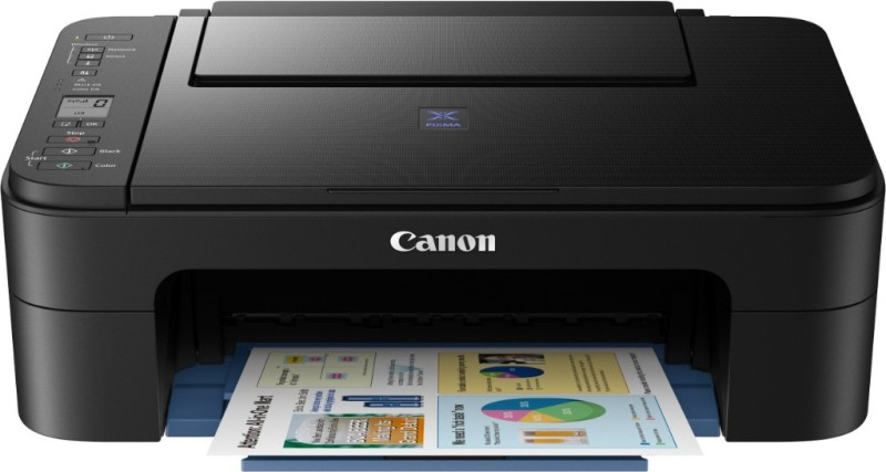 Canon Pixma E3177 Multi-function Printer(Black, Ink Cartridge) image