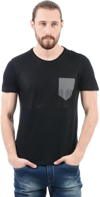 Arrow New York Solid Men Round Neck Black T-Shirt