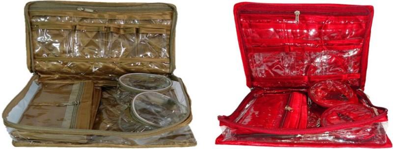 Aadhya 2 bangle jewellery Makeup and Jewellery Vanity Box(Multicolor)