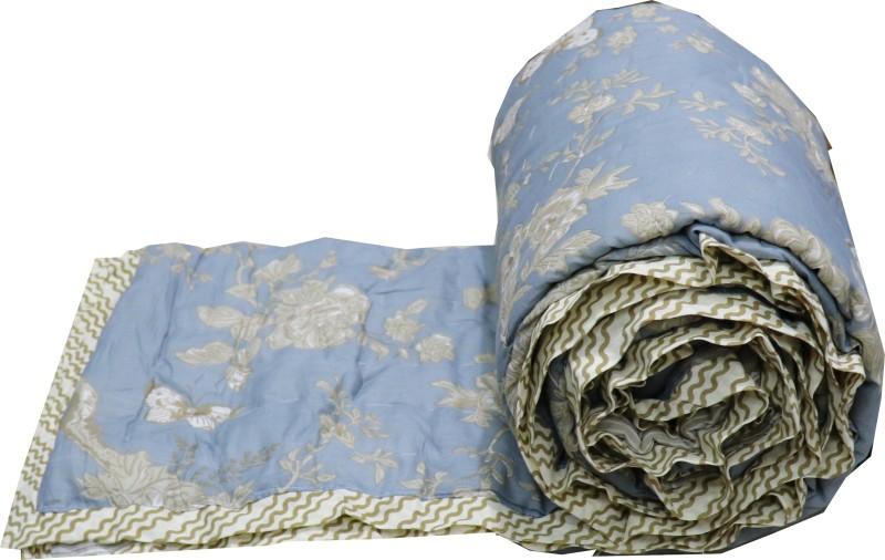 Metro Living Floral Single Quilt, Comforter Grey(Micro Quilt)