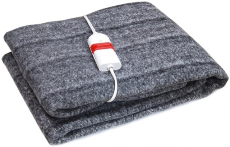 Heirloom Quality Plain Single Electric Blanket Grey