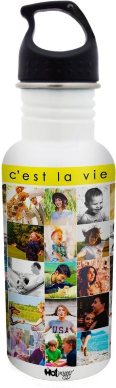 Hot Muggs Cest La Vie - Life is Good Collection S.S. Bottle 600 ml Bottle(Pack of 1, Multicolor)