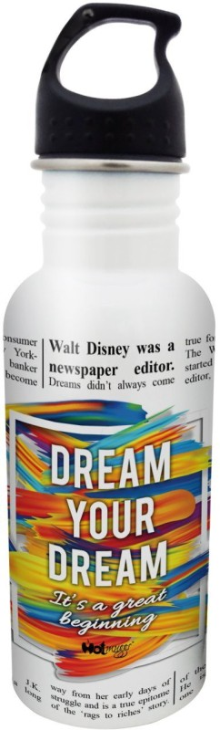 Hot Muggs Dream your Dream - Newsprint Series S.S. Bottle 600 ml Bottle(Pack of 1, Multicolor)