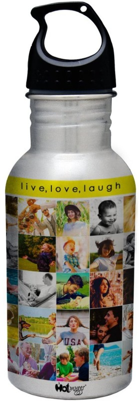Hot Muggs Live. Love. Laugh. - Life is Good Collection S.S. Bottle 600 ml Bottle(Pack of 1, Multicolor)