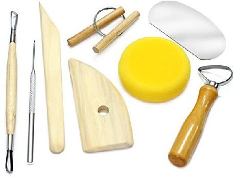 Isomars 8 Piece Pottery & Clay Modelling Tool Engraving Set