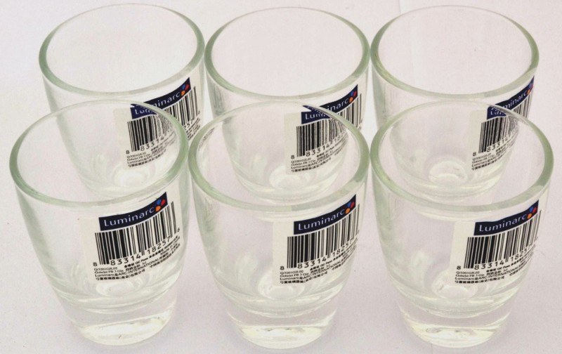 LUMINARC ot 16160 Glass Set(Glass, 30 ml, Clear, Pack of 6)