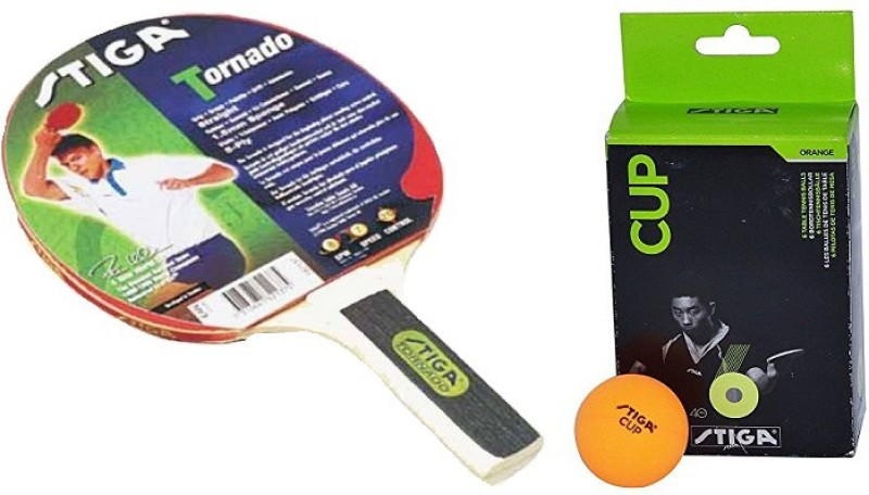 Stiga Combo Of Two, One 'Tornado' Table tennis Racquet , and One 'Cup' Ping Pong Ball Box- Table Tennis Kit