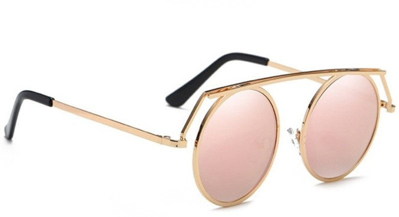 stylefiestafashion Round Sunglasses(Pink)