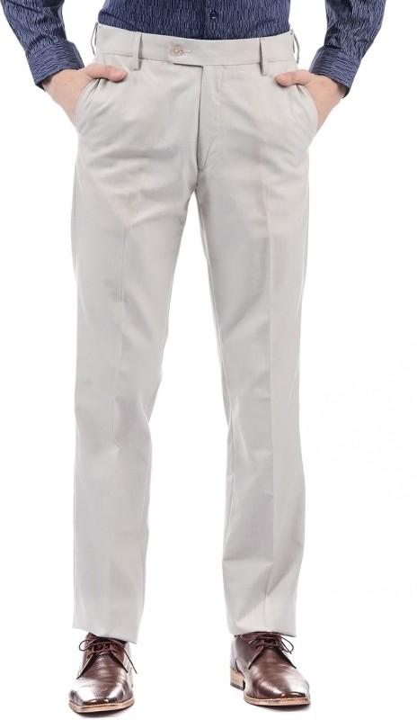 Arrow Regular Fit Men Beige Trousers