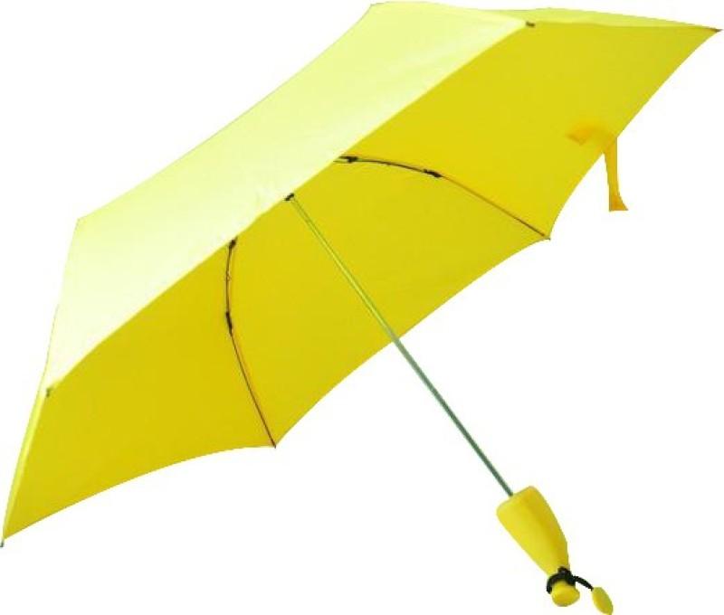 fresh n fine Banana Shape Folding Compact Anti-uv Sun Rain Umbrella (Yellow) Umbrella(Yellow)