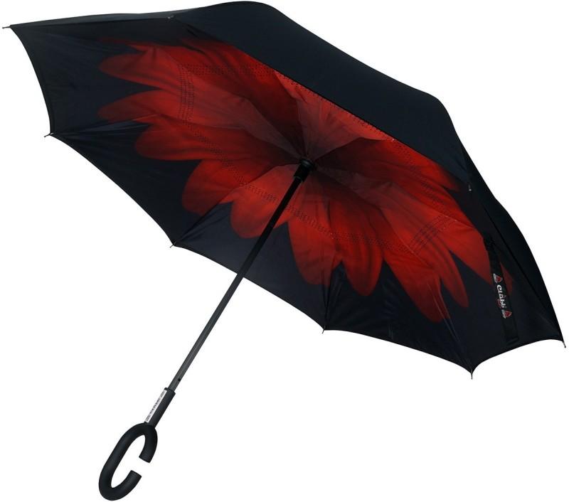 Clubb Clubbrella for Car - The Inverted / Reversible Umbrella(Red Daisy)