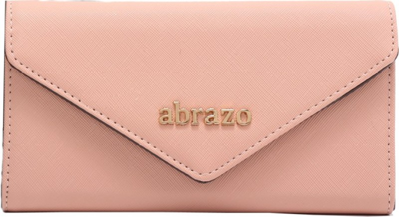 abrazo Women Pink Artificial Leather Wallet(18 Card Slots)