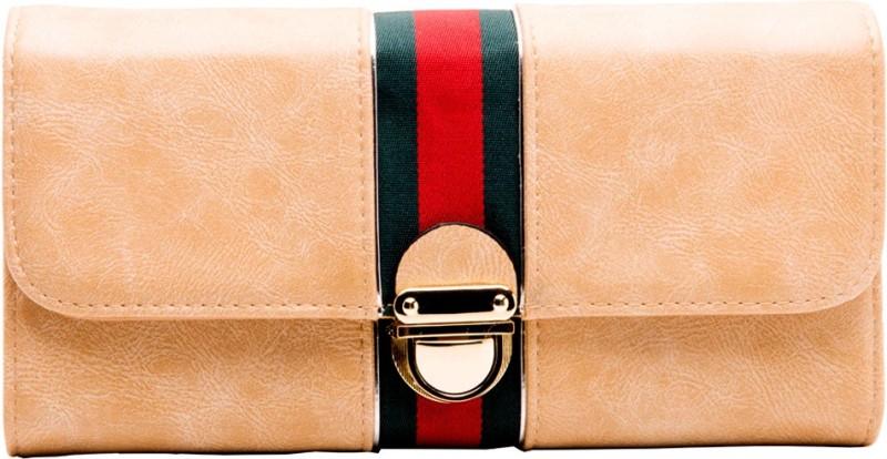 abrazo Women Beige Artificial Leather Wallet(5 Card Slots)