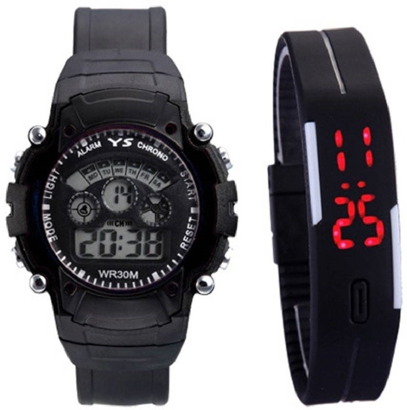 lavishable Pack of 2 Sports Collection Black Dial Watch - For Boys Digital Watch  - For Boys & Girls