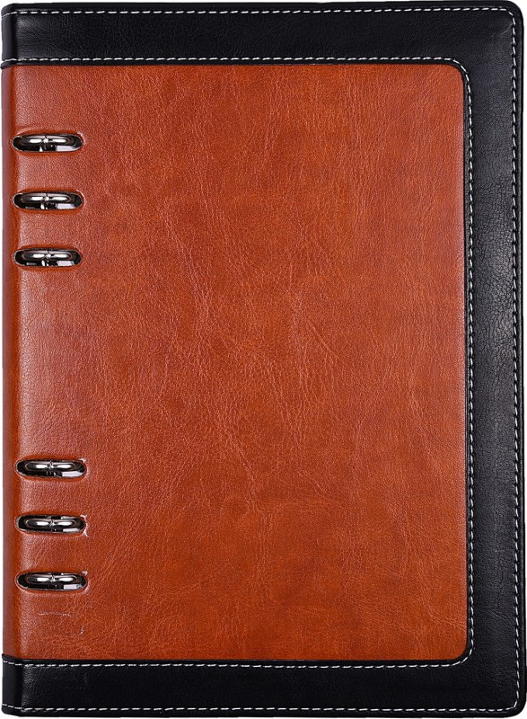 Atlas Regular Organizer(Brown with Black Border Personal Notebook, Multicolor)
