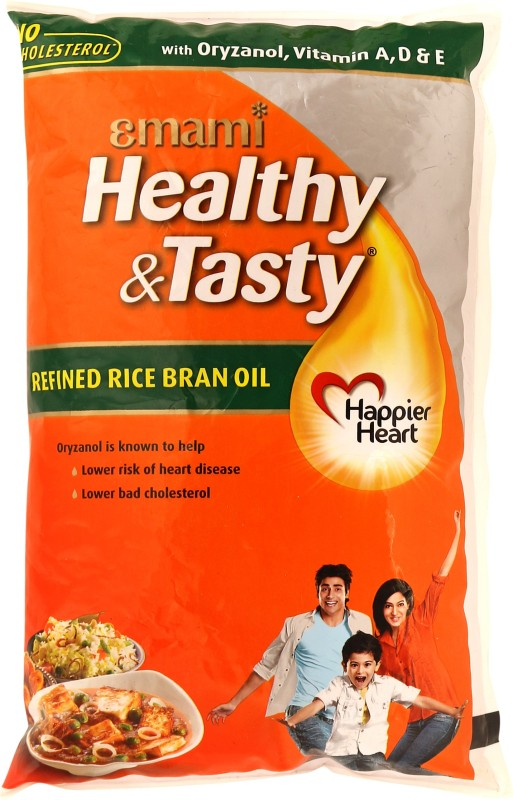 Emami Healthy & Tasty Refined Rice Bran Oil 1 L