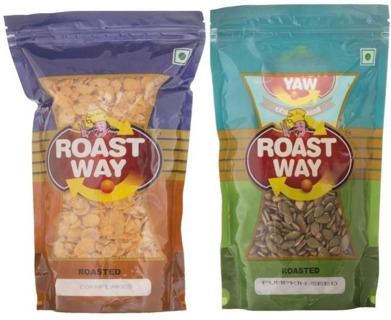 Roastway Foods Pumpkin Seed & Corn Flakes Roasted Namkeen Combo