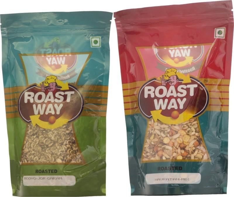 Roastway Foods Moong Jor Garam & Navratan Mix Roasted Namkeen Combo