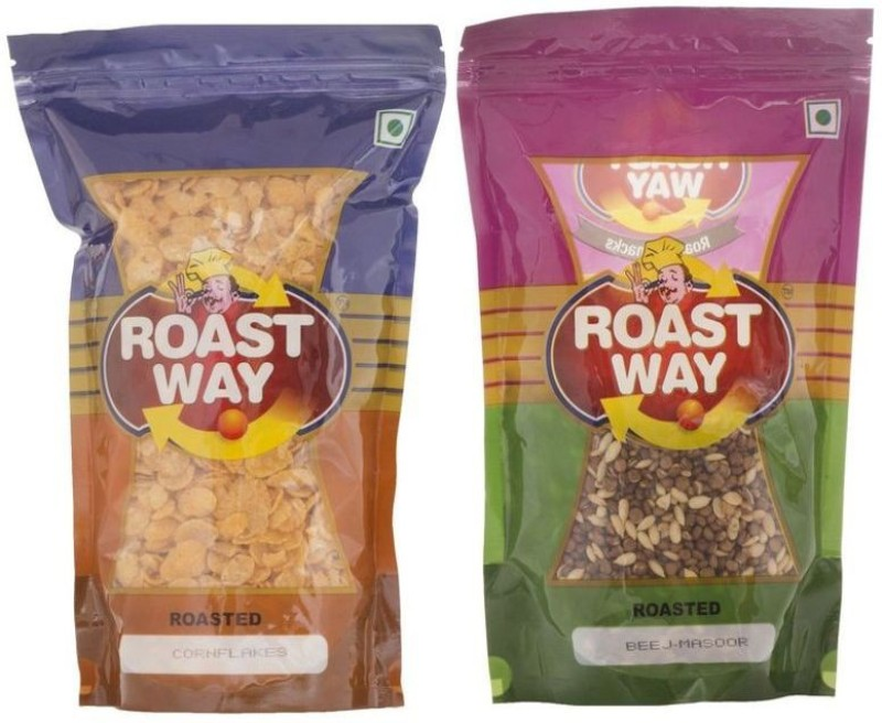 Roastway Foods Beej Masoor & Corn Flakes Roasted Namkeen Combo