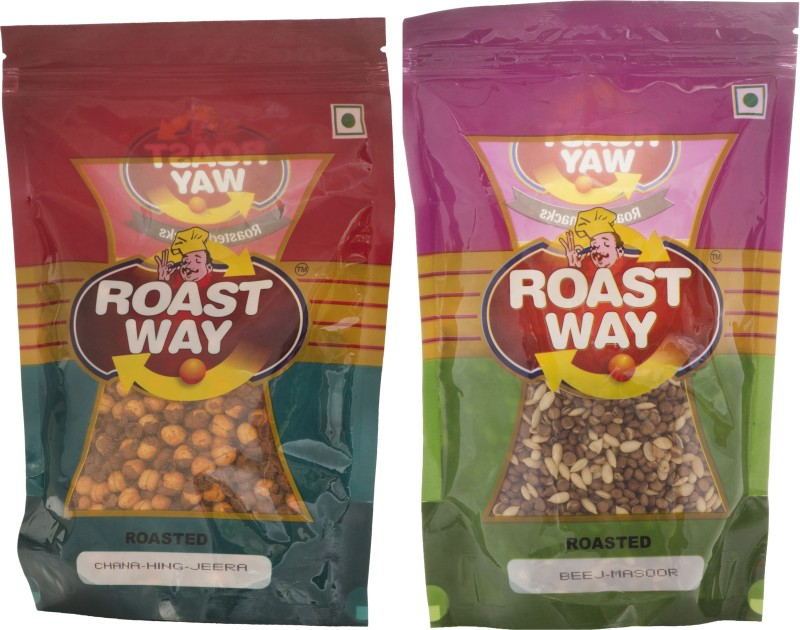 Roastway Foods Beej Masoor & Chana Hing Jeera Roasted Namkeen Combo